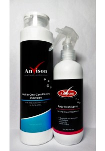 Anvison Valued Pack 18 (Multi in 1 Conditioning Shampoo) - Multi in 1 Cond Shampoo 400ml and Repellent Body Fresh Spray 230ml