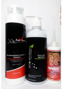 Anvison Super Saver 30 (Deep Cleansing Shampoo) - Deep Cleansing Shampoo 400ml, Eco-Anvison Smooth & Silky Shampoo 400ml and 3 in 1 Essence Ear Cleanser 110ml