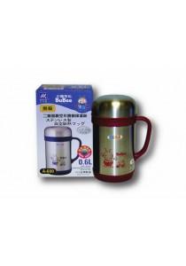 BUBEE Stainless Steel Vacuum Mug 600ml-RED