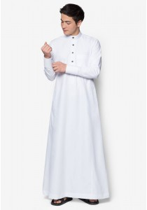 AMAR AMRAN Jubah A Slim Fit (White)