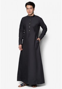 AMAR AMRAN Jubah A Slim Fit (Black)