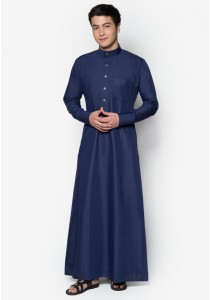 AMAR AMRAN Jubah A Slim Fit (Navy Blue)