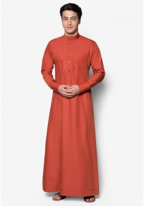 AMAR AMRAN Jubah A Slim Fit (Pumpkin Orange)