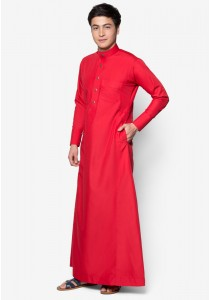 AMAR AMRAN Jubah A Slim Fit (Red Chili)