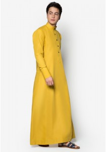 AMAR AMRAN Jubah A Slim Fit (Mustard Yellow)