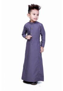 AMAR AMRAN Jubah Aulad For Kids (Dark Grey)