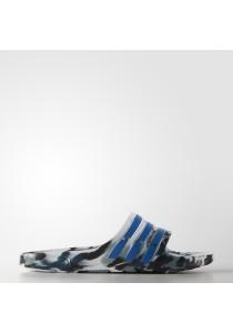 Adidas Duramo Slide White Blue Glacier Mens Sandal Slippers