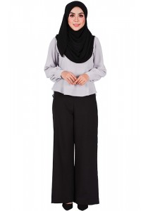 MyTrend Aria Flare Pants (Black)