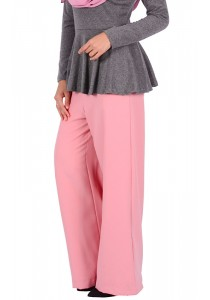 MyTrend Aria Flare Pants (Blossom Pink)