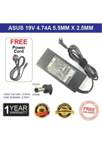 Asus 19V 4.74A 90W 5.5*2.5mm Laptop Compatible Ac Adapter Charger