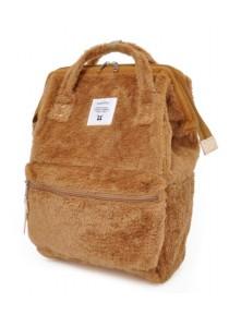 Anello Fur Backpack Regular Size - Camel