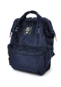 Anello Fur Backpack Regular Size - Navy