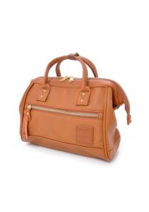 100% Authentic Anello - PU Leather 2 Way Boston Bag Mini Size (Camel)