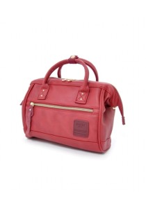 100% Authentic Anello - PU Leather 2 Way Boston Bag Mini Size (Wine)