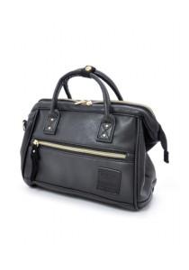 100% Authentic Anello - PU Leather 2 Way Boston Bag Mini Size (Black)
