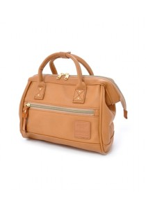 100% Authentic Anello - PU Leather 2 Way Boston Bag Regular Size (Camel Beige)