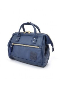 100% Authentic Anello - PU Leather 2 Way Boston Bag Regular Size (Navy)