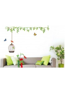 OEM - Simple Bird Cage Wall Stickers