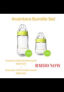 Anantara Guda Feeding Bottle (Glass) 150ml & 240ml Bundle Set