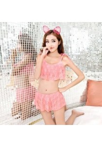 Peach Lace Bikini