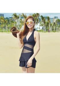Black Lace Bikini Dress