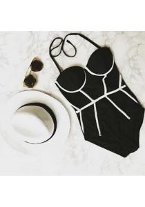 Black One Pcs Bikini