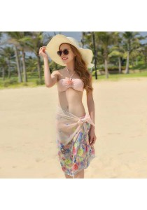 Peach Bikini With Cape