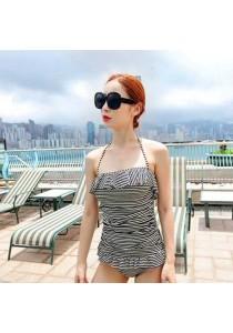 Black & White Stripe Bikini