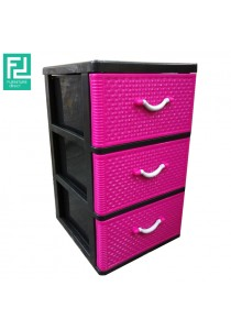 Furniture Direct B1300 3 Drawer Plastic Storage