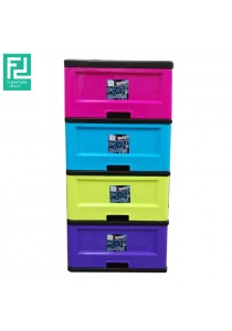 Furniture Direct Colorful 4 Drawer Plastic Storage