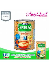 Buy 1X Nestle Cerelac Wheat Honey (500G) + Free 1X Nestle Cerelac Rice (100G)