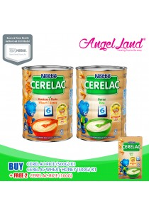 [Bundle Deals] 1X Nestle Cerelac Rice (500G) +1X Nestle Cerelac Wheat Honey (500G) + Free 2X Nestle Cerelac Rice (100G)