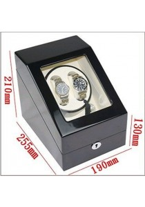 Auto Rotate Winder Watch Box Single Winder (B2+3) Black White