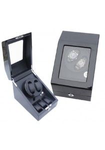 Auto Rotate Winder Watch Box Single Winder (B2+3) Black Black