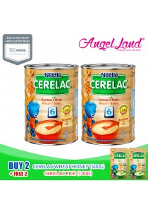 Buy 2X Nestle Cerelac Wheat Honey (500G) + Free 2X Nestle Cerelac Rice (100G)