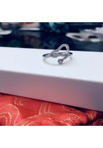 Trendy Cubic Zirconia Silver Ring