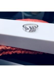 Arrow Cubic Zirconia Silver Ring