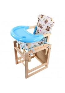 Alpha Living Multi-Function Baby Feeding Adjustable High Wood Chair Set (BAY0022)