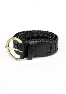 Braided Leather Belt (for all sizes) - Black