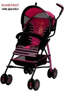 Sweet Heart Paris BG200 Stroller Buggy (New Red/Pink)