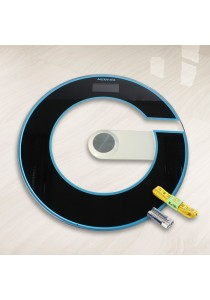 V-Fitz G-Shape Tempered Glass Digital LED Round Scale [FREE Battery & Tape]