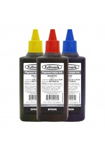 Fullmark Pigment Inkjet Ink 3 Bottles Value Pack - Compatible with Epson