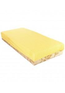OWEN Crib Sheet for Baby Mattress - Checkered (Yellow/White)
