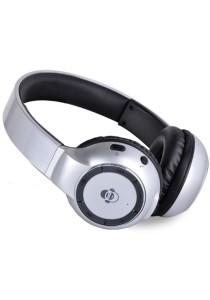 iDance BLUE 300 Wireless Bluetooth DJ Headphone (Silver)