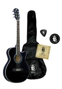 BLW Slimcoustic Acoustic Guitar Package 1 (Black)