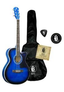 BLW Slimcoustic Acoustic Guitar Package 1 (Blue)