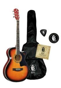 BLW Slimcoustic Acoustic Guitar Package 1 (Sunburst)