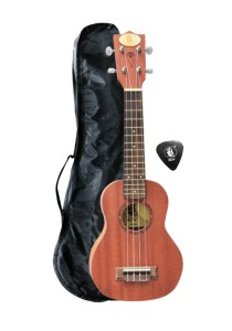 BLW Full Sapele Soprano Ukulele with Bag and Pick