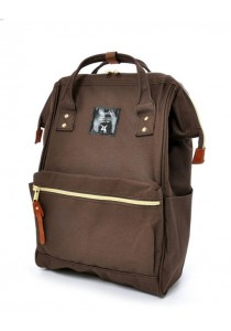 100% Authentic Anello (Mini) Backpack - Polyester Canvas Brown