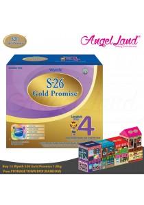 Wyeth S26 Gold Promise (4 Years+) Milk 1.8Kg + Foc Storage Town Box (Random)